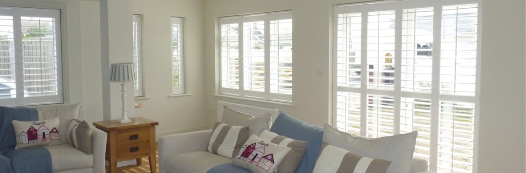 Vinyl shutters in the lounge