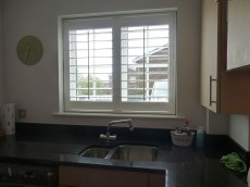 Vinyl shutters in the kitchen