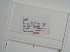 Typical shutter panel label