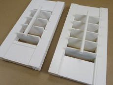 Sample of vinyl and mdf window shutter