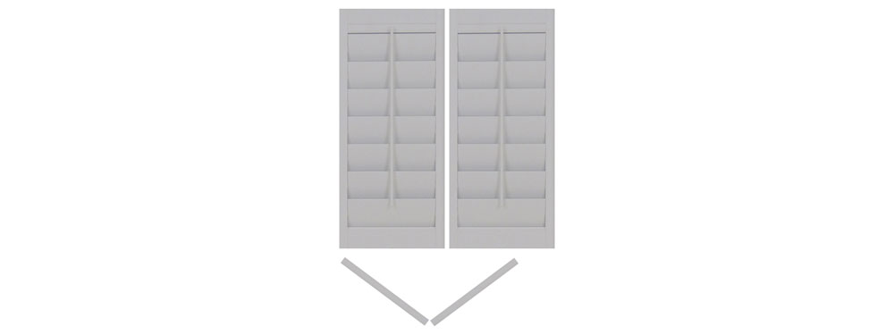 DIY vinyl shutter bi-folding left-left