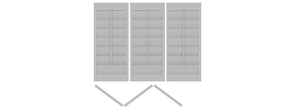 DIY vinyl shutter tri-folding left-left-left