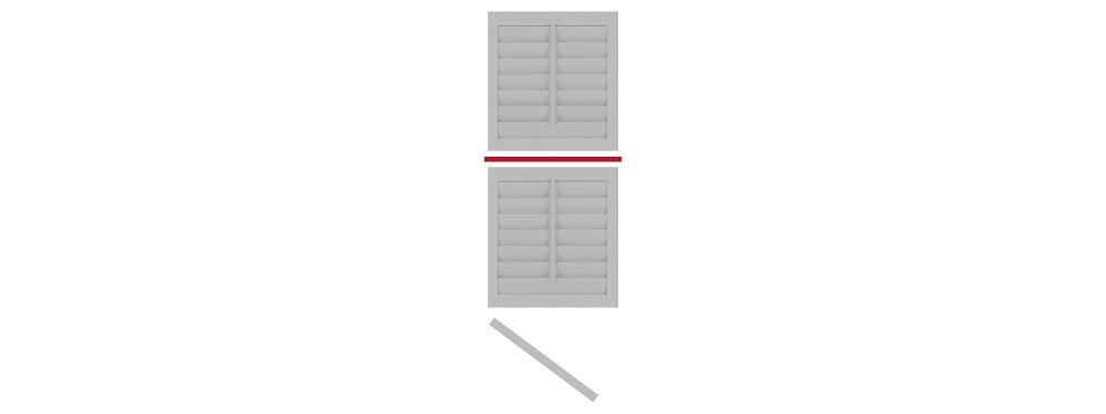 DIY tier on tier shutter opening left