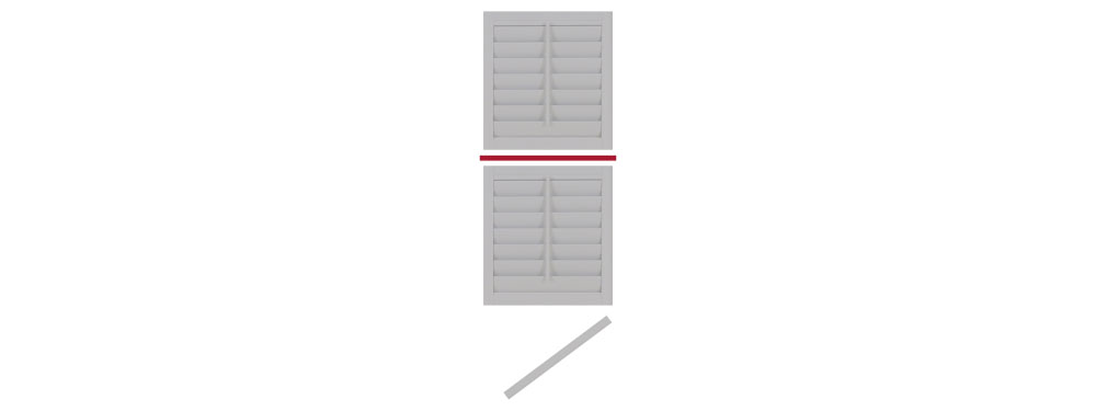 DIY tier on tier shutter opening right