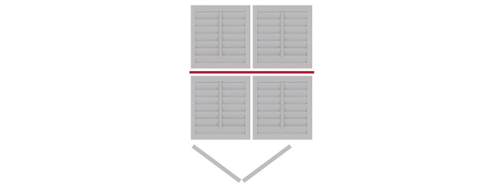 DIY tier on tier shutter bi-folding left