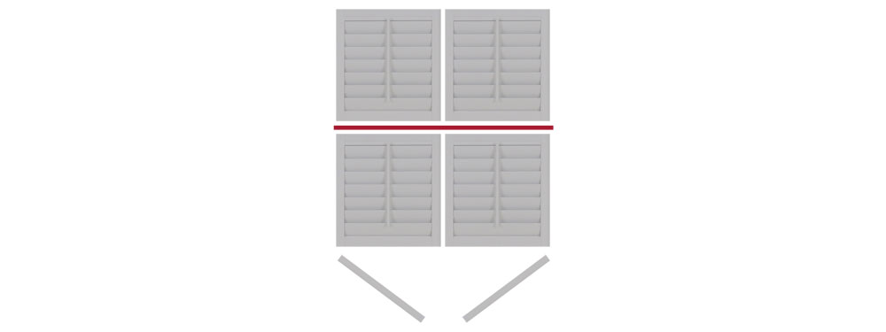DIY tier on tier shutter opening left-right