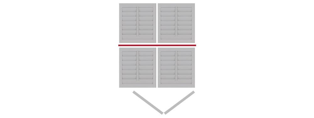 DIY tier on tier shutter bi-folding right