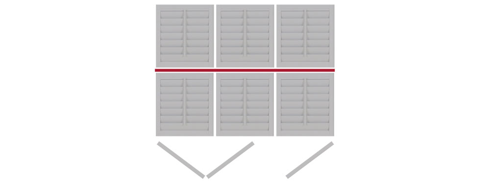 DIY tier on tier shutter opening LLR