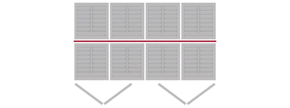 DIY tier on tier shutter bi-folding LLRR