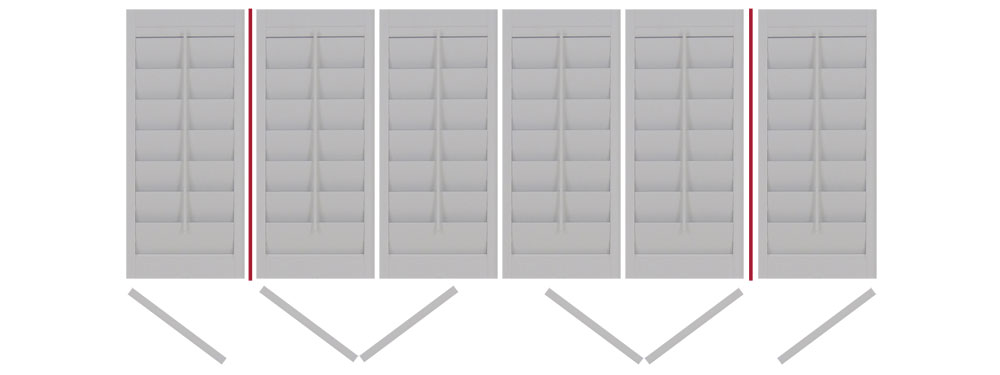 DIY shutters with 2 Tposts folding 6 x LTLLRRTR